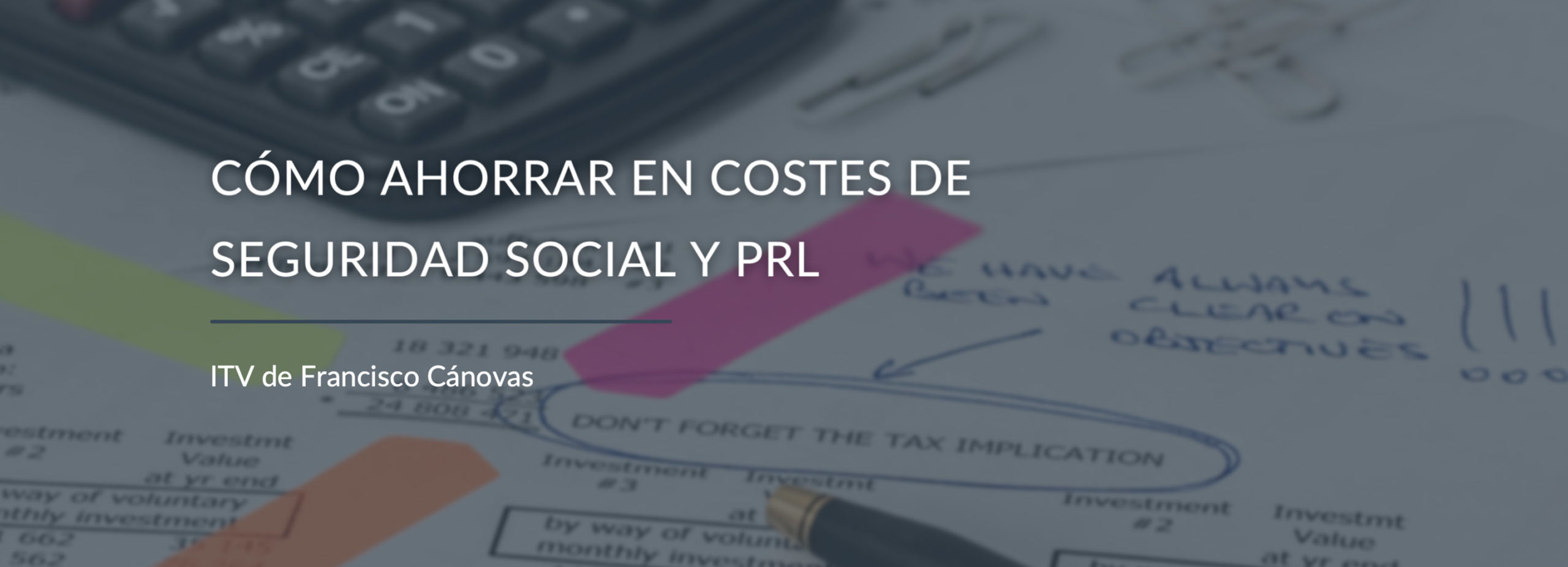 Costes seguridad social y PRL